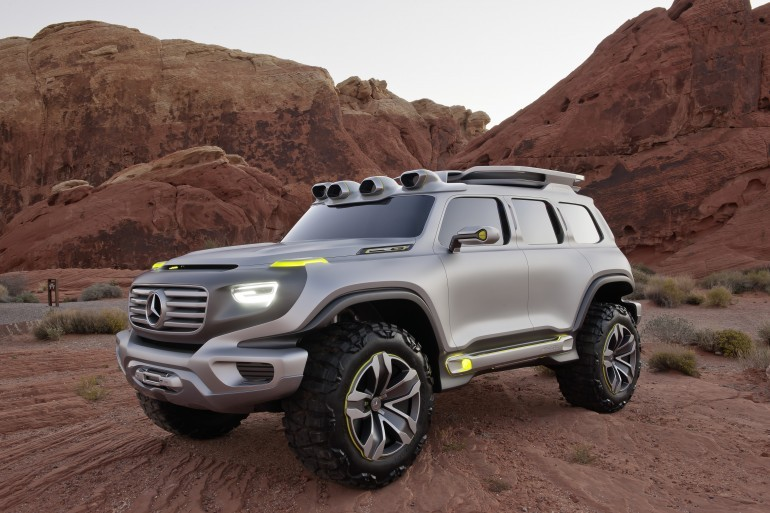 Mercedes benz ecologica da fuoristrada ener g force per il for Macchina da cucire economica