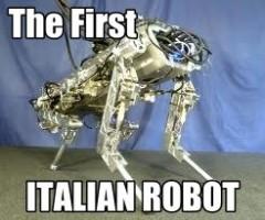 primo robot italiano