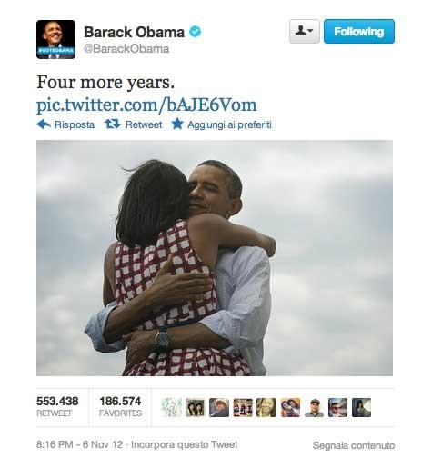 il primo tweet di obama
