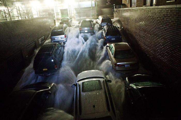 uragano sandy immagini da new york